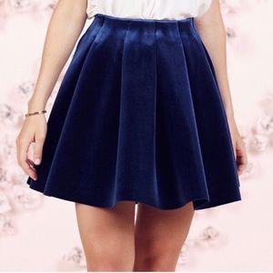 LC Lauren Conrad Runway Collection 14 Blue Skirt